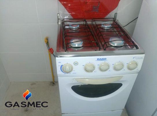 Instalação de fogão