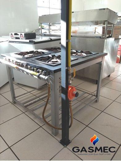 Instalação de fogão em gás encanado