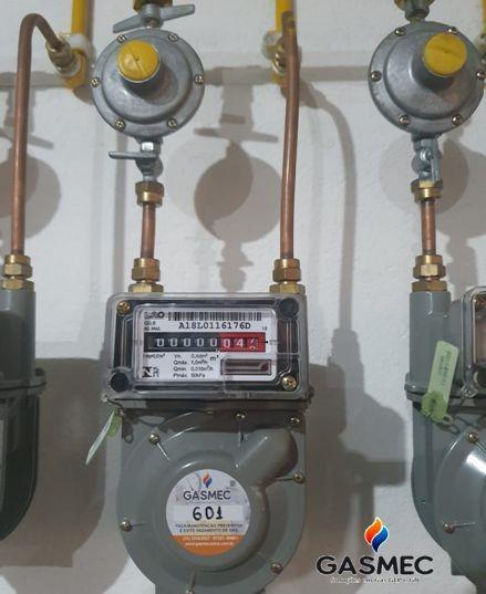 Instalação de medidores de gás