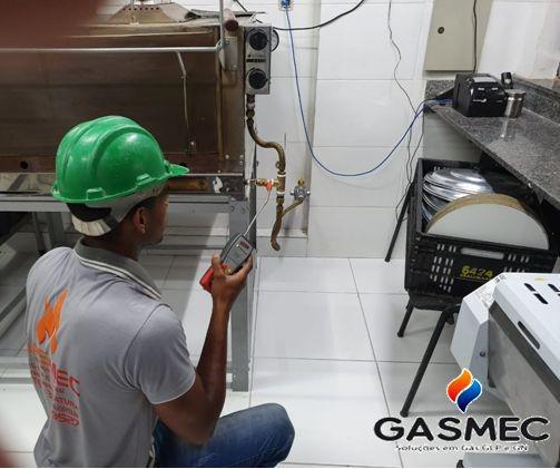 Manutenção preventiva de gás