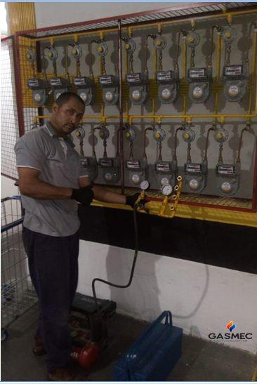 Teste de estanqueidade de gas glp