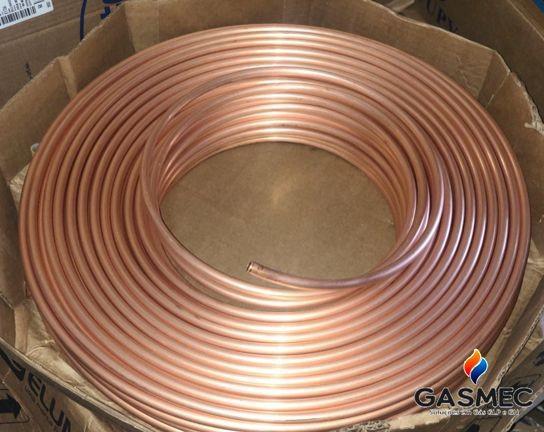 Tubo de cobre para gás