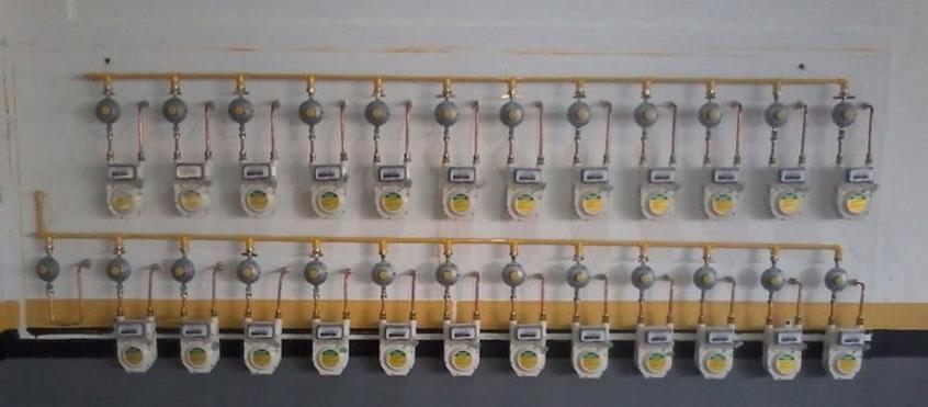 Instalação de medidores